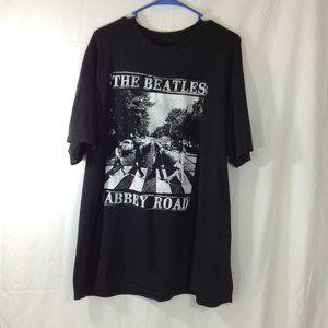 Black Beatles Abby Road Tee XL
